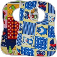Wobbly Walk Baby Apron/Bib - Set Of 2 (Multicolor) - BIBEKFN9TY5FHGZB