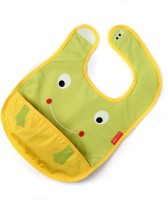 Baby Oodles Cloth Bib With Pocket Frog (Green)