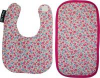 Wobbly Walk Bib & Burp Cloth - Floral Print (Pink)