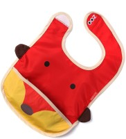 Baby Oodles Cloth Bib With Pocket Fox (Red)