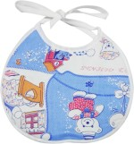 Wonderkids Blue Teddy Print Baby Foam Bib