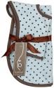 Kushies Newborn Feeding Gift Set - Bib And Burp Pad - Dots - Blue