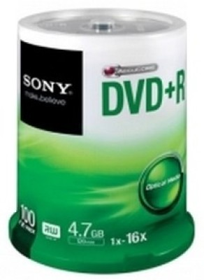 Buy Sony DVD+R 100 Pack Spindle: Blank Media