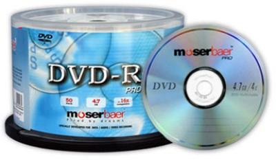 Buy Moser Baer DVD-R Pro 50 Pack Normal Cake Box: Blank Media