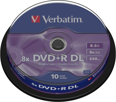 Buy Verbatim DVD+R DL (8.5GB) 10 Pack Spindle: Blank Media