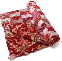 Jaipurse Floral Single Quilts & Comforters Red (Quilt)