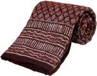 Little India Jaipuri Print Cotton Single Bed Razai Quilt Modern Ethnic Quilt Single
