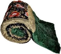 Little India Jaipuri Green Floral Single Bed Velvet Quilt Modern Ethnic Quilt Single