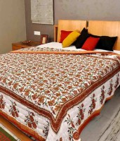 Krg Enterprises Floral Single Blanket Multicolor Jaipuri Quilt Single Bed Razai - BLAEDNYH47ZYK37H