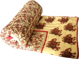 Fab Rajasthan Abstract Double Quilts & Comforters Multicolor