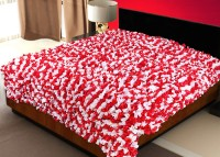 Sapatos Floral Double Quilts & Comforters Red & White Double Quilt