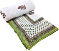 Shop Rajasthan Reversible Floral Print Cotton Floral Double Quilt (100% Cotton)