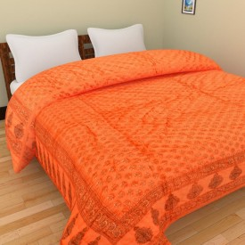 GRJ India Floral Single Quilts & Comforters Multicolor