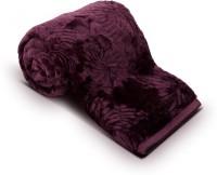 Fab Ferns Plain Double Blanket Purple Mink Blanket, Blanket
