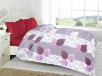 Fabutex Floral Double Quilts & Comforters Purple-Grey, 1 Fleece Blanket