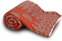Home India Rajasthani Paisley Design Cotton 122 Self Design Single Quilt (100% Cotton)