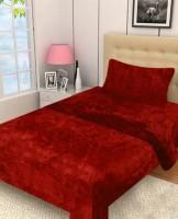 Excel Bazaar Plain Single Blanket Red Coral Blanket, 1 Single Blanket