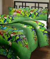 Ayushi Craft & Fashions Ben 10 Green Printed Single Blanket (Fallalin, Multicolor)