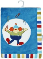 Abracadabra Embroidered Crib Blanket Multicolor