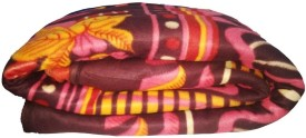 GRJ India Floral Single Blanket Multicolor