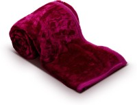 Fab Ferns Plain Double Blanket Pink Mink Blanket, Blanket