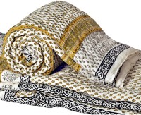 Little India Pure Cotton Sanganeri Print Single Bed Quilt 319 Modern Ethnic Quilt Single