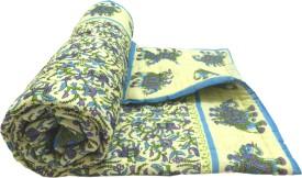 Shop Rajasthan Animal Single Quilts & Comforters Blue & Light Blue