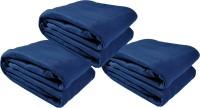 Kema Plain Single Blanket Dark Blue Fleece Blanket, 3 Polar Fleece Blanket