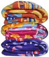 Pasricha Handlooms Abstract Single Blanket Mixed Fleece Blanket, Three Single Bed Fleece Blankets