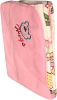 My NewBorn Cartoon Crib Hooded Baby Blanket Pink (Fleece Blanket, ONE BLANKET)