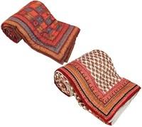 Home India Self Design Double Quilt Multicolor