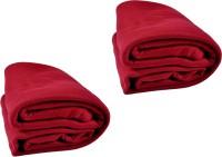 Kema Plain Single Blanket Red Fleece Blanket, 2 Polar Fleece Blanket