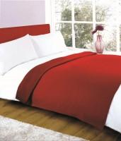 K Decor Plain Double Blanket Maroon Fleece Blanket, 3 Double Bed Fleece Ac Blanket