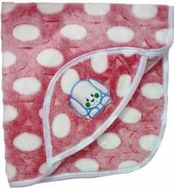 Brandonn Polka Single Hooded Baby Blanket Beige