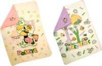 My NewBorn Cartoon Single Fleece Blanket Multicolor (Package Of 2 Reversible Polar Fleece Baby Blankets)