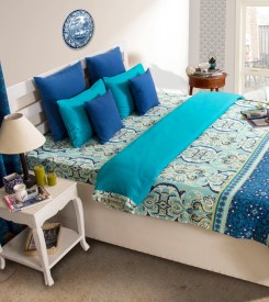 House This Paisley Single Quilts & Comforters Blue