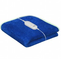 Home Elite Plain Single Electric Blanket Blue Electric Bed Warmer