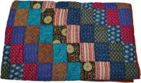 RSimpex Polka, Floral, Self Design Double Quilt Multicolor