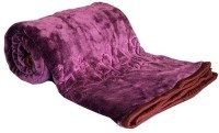Fab Ferns Plain Single Mink Blanket Purple, Blanket