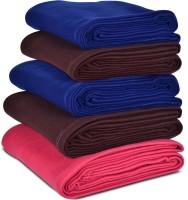 Rangasthali Plain Fleece Solid Single Blanket (Fleece, Multicolor)