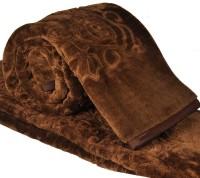 Little India Embossed Design Double Bed Soft Mink Blanket Modern Ethnic Blanket: Blanket