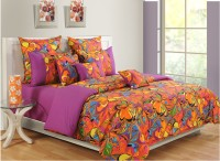 Swayam Cotton Floral Double Bedsheet (1 Bedsheet, 2 Pillow Covers)