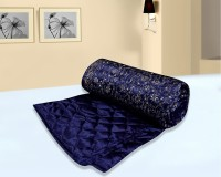 Floor Fashion Self Design Double Quilt Blue