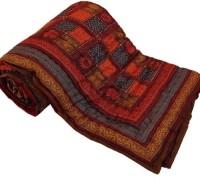 Rangasthali Jaipuri Traditional Ethnic Single Cotton Printed Bed Quilt/ Razai - Grj-S1- Dhb1 Blanket (Single)