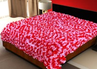 Sapatos Floral Double Quilts & Comforters Red & Pink Double Quilt