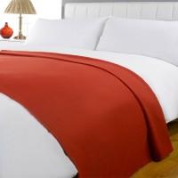 Elegance Plain Double Fleece Blanket Orange, 1 Blanket