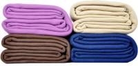 Kema Plain Single Blanket Multicolor Fleece Blanket, 4 Polar Fleece Blanket - BLAEFF6HE7CEHFHF