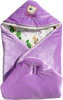 My NewBorn Cartoon Crib Hooded Baby Blanket Purple (One Lovable Velvet Hooded Baby Blanket)