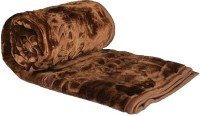 Fab Ferns Plain Single Blanket Brown, Blanket