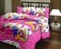 Blankets World White & Pink Princess Ac Cartoon Blanket - Single